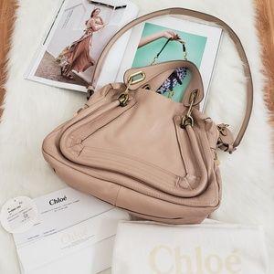 Chloe Paraty Small Leather Satchel Handbag
